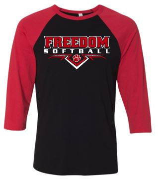 FREEDOM SOFTBALL RAGLAN TSHIRT