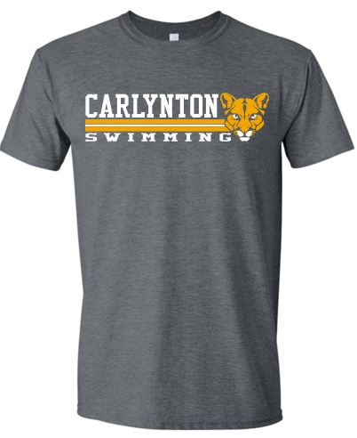 CARLYNTON SWIMMING HEATHER GREEN SHORT SLEEVE GILDAN TSHIRT