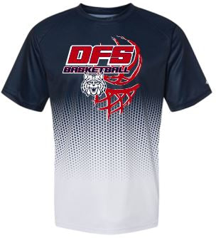 DFS HEX 2.0 NAVY MOISTURE WICKING TSHIRT