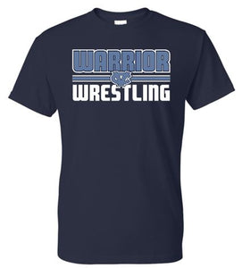 WARRIOR WRESTLING NAVY MOISTURE WICKING SHORT SLEEVE TSHIRT