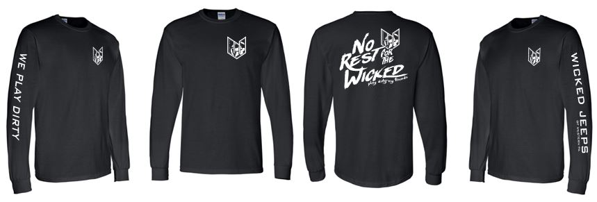 WICKED JEEP NO REST LONG SLEEVE TSHIRT