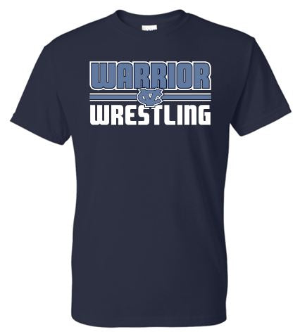 WARRIOR WRESTLING NAVY SHORT SLEEVE TSHIRT