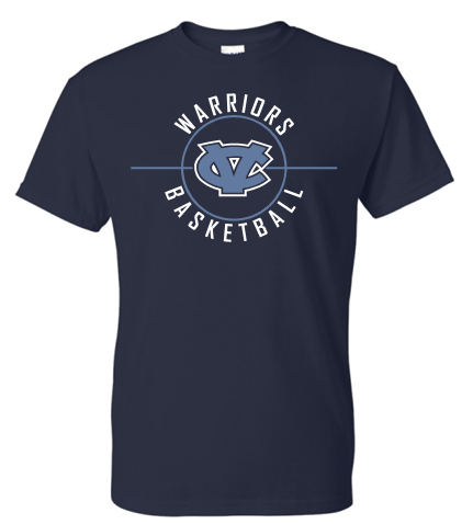 CV BASKETBALL NAVY MOISTURE WICKING SHORT SLEEVE TSHIRT