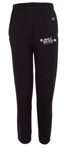 RNR CITY BLACK CHAMPION SWEATPANTS