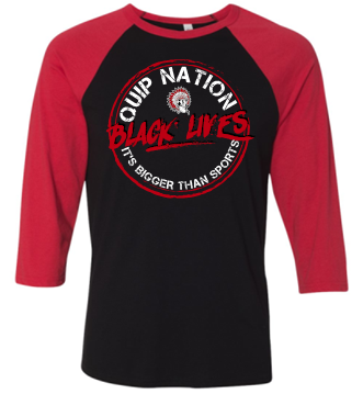 BLACK LIVES RAGLAN SLEEVE TSHIRT