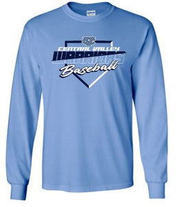 CV BASEBALL CAROLINA LONG SLEEVE GILDAN TSHIRT