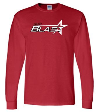 OHIO BLAST RED LONG SLEEVE TSHIRT
