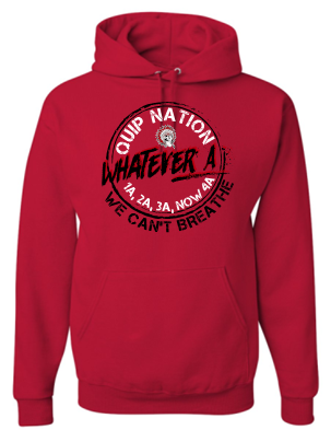 WHATEVER A RED HOODIE