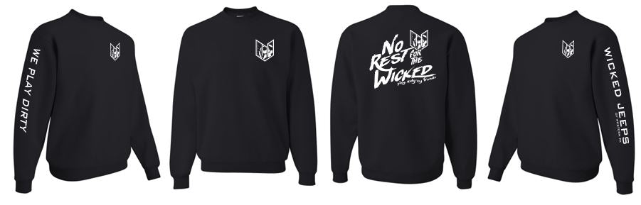 WICKED JEEP NO REST CREW NECK SWEATSHIRT