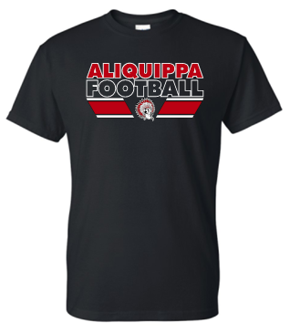 ALIQUIPPA FOOTBALL BLACK MOISTURE WICKING TSHIRT