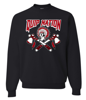 QUIP NATION BLACK CREWNECK SWEATSHIRT