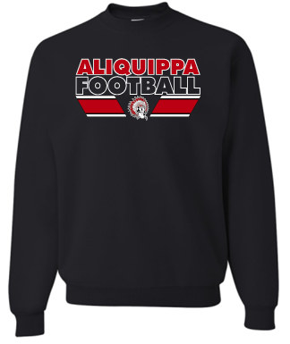 ALIQUIPPA FOOTBALL BLACK CREWNECK SWEATSHIRT