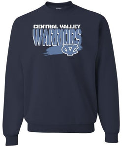 CV WARRIORS NAVY CREW NECK SWEATSHIRT