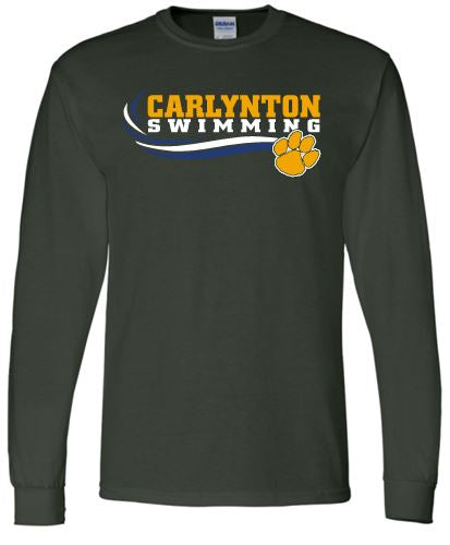 CARLYNTON SWIMMING PAW LONG SLEEVE GILDAN TSHIRT