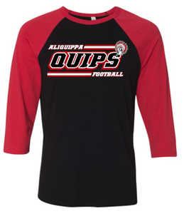 QUIPS FOOTBALL RAGLAN SLEEVE TSHIRT