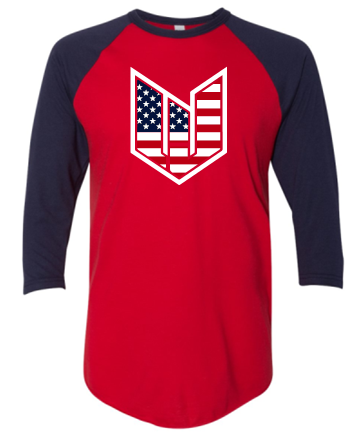 WICKED JEEP STARS & BARS RAGLAN SLEEVE TSHIRT
