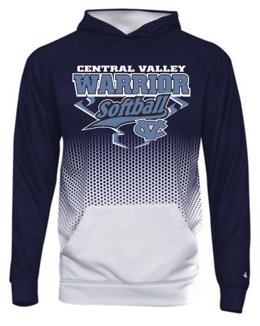 CV SOFTBALL BADGER HEX 2.0 MOISTURE WICKING HOODIE