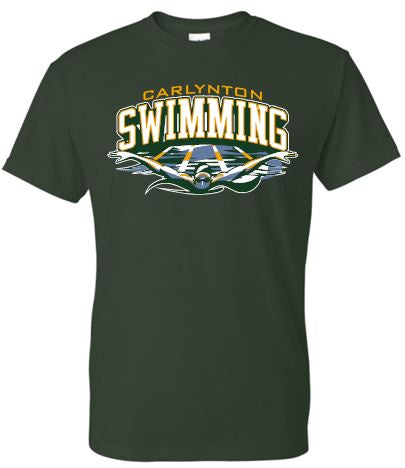 CARLYNTON SWIMMING WAVES SHORT SLEEVE GILDAN TSHIRT