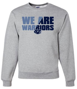 CV WARRIORS GRAY CREW NECK SWEATSHIRT