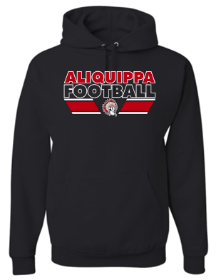 ALIQUIPPA FOOTBALL BLACK MOISTURE WICKING HOODIE