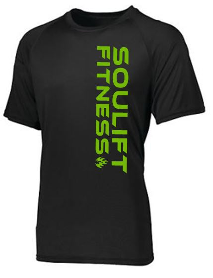 SOULIFT MOISTURE WICKING TEE VERTICAL LOGO