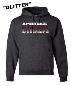 AMBRIDGE GLITTER CHEER COTTON HOODIE