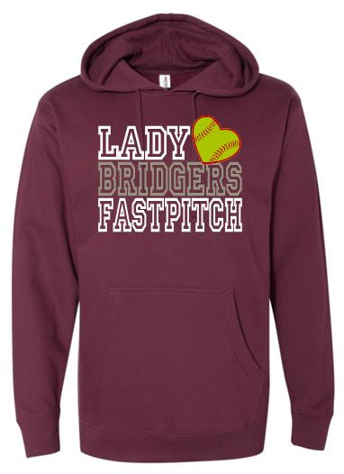 """GLITTER"" LADY BRIDGERS FASTPITCH COTTON HOODIE"