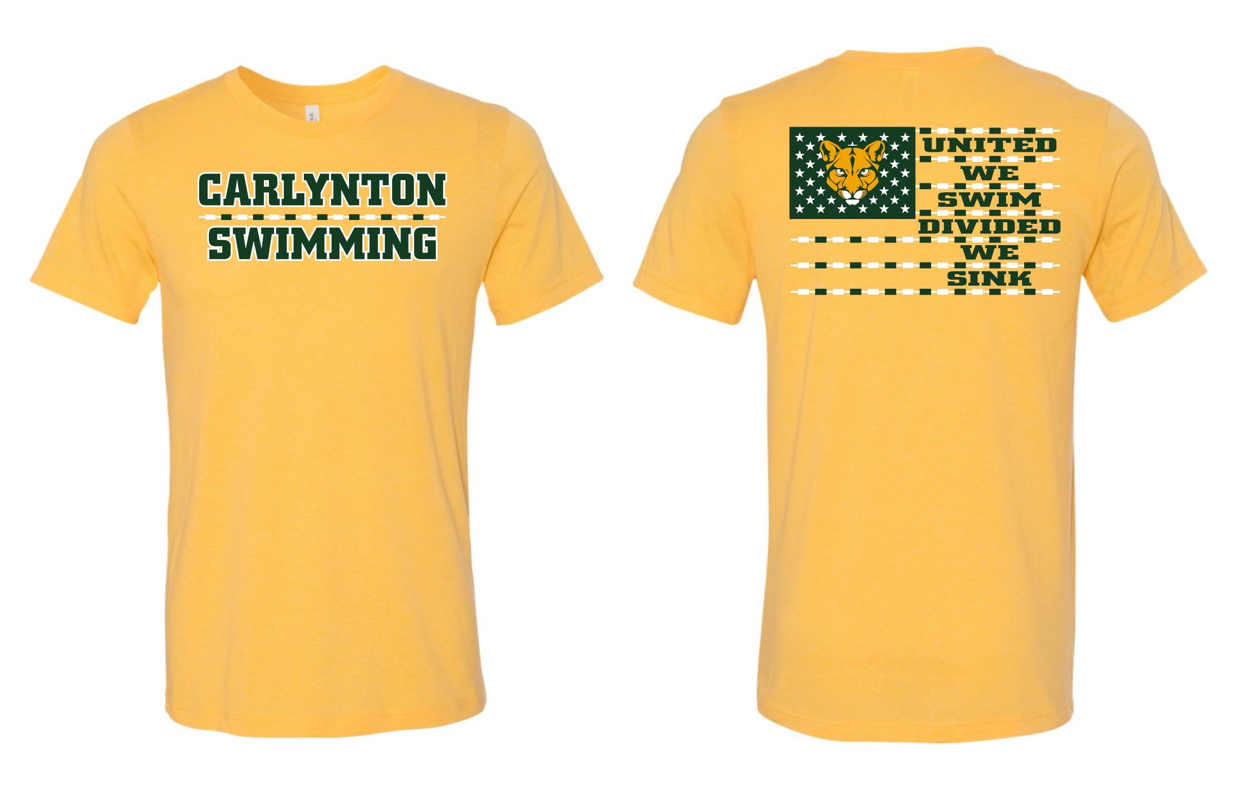 CARLYNTON SWIMMING FLAG SHORT SLEEVE GILDAN TSHIRT