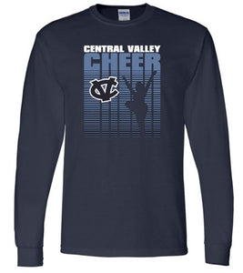 CV WARRIORS CHEER LONG SLEEVE GILDAN TSHIRT