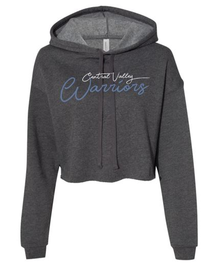 CV WARRIORS DARK HEATHER CROPPED HOODIE