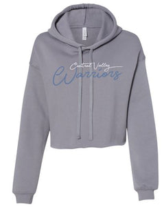 CV WARRIORS GRAY CROPPED HOODIE