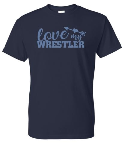 """GLITTER"" WARRIOR WRESTLING LOVE MY WRESTLER TSHIRT"