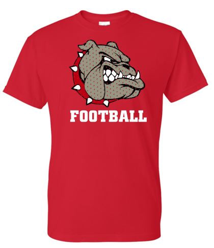 BULLDOG FOOTBALL MOISTURE WICKING TSHIRT
