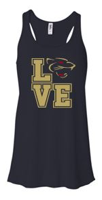 """GLITTER"" LOVE PANTHERS FLOWY TANK TOP"