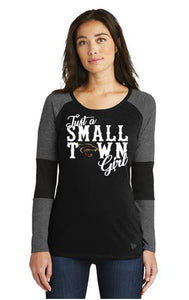 PANTHERS SMALL TOWN GIRL LONG SLEEVE TSHIRT