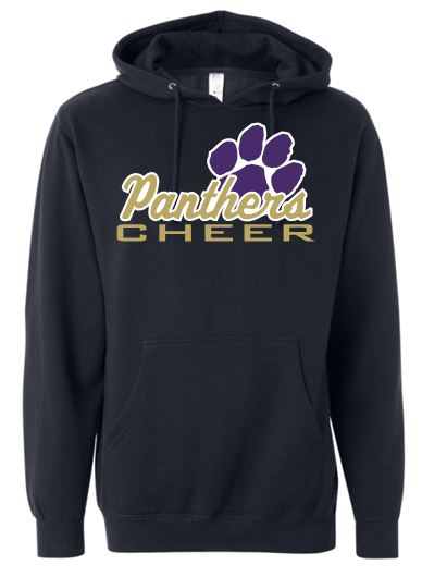 """GLITTER"" PANTHERS CHEER COTTON HOODIE"