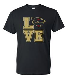 """GLITTER"" LOVE PANTHERS COTTON TSHIRT"