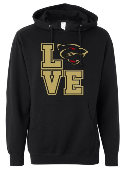 """GLITTER"" LOVE PANTHERS COTTON HOODIE"