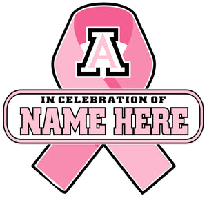 AMBRIDGE BREAST CANCER CELEBRATION SIGN