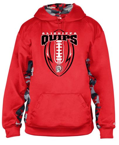 QUIP FOOTBALL RED CAMO HOODIE