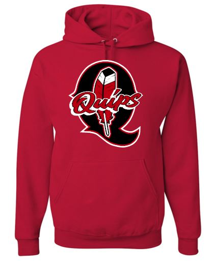 Q FEATHER RED HOODIE