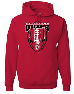QUIP FOOTBALL RED HOODIE