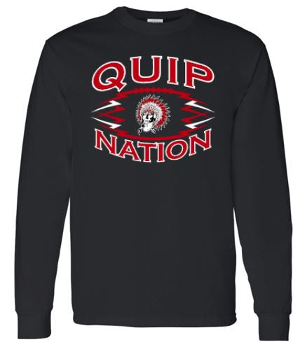 QUIP NATION BLACK LONG SLEEVE GILDAN TSHIRT