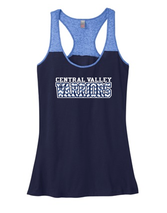 CV CHEVRON WARRIORS TWO TONE FLOWY TANK TOP