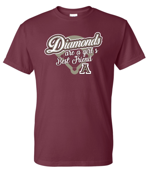DIAMONDS ARE A GIRLS BEST FRIEND TSHIRT