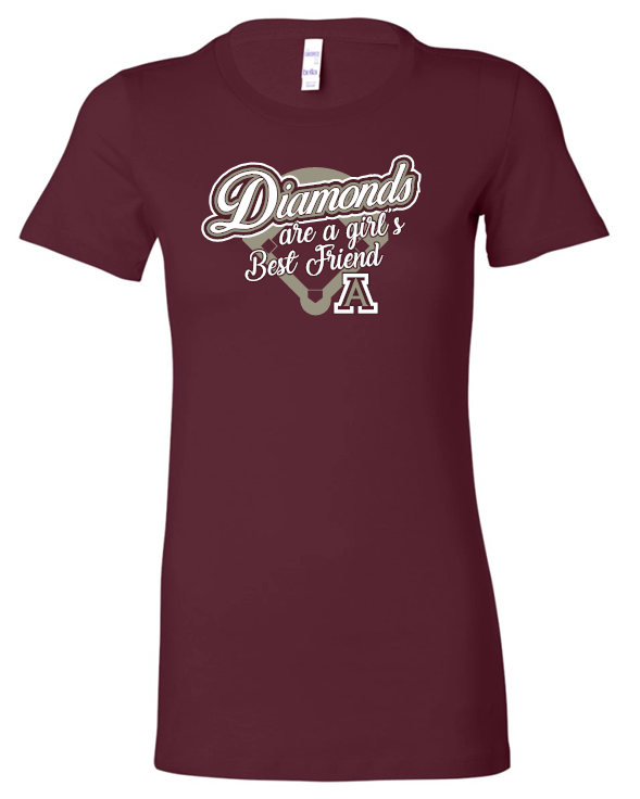 DIAMONDS ARE A GIRLS BEST FRIEND SHORT SLEEVE BELLA TSHIRT