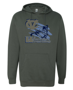 WARRIOR WRESTLING COTTON HOODIE GRAY