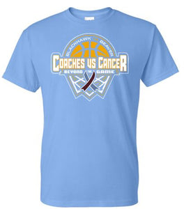BLACKHAWK COACHES VS CANCER CAROLINA BLUE SHORT SLEEVE TSHIRT