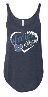 "CV ""GLITTER"" WARRIOR MOM SIDE SLIT TANK TOP"