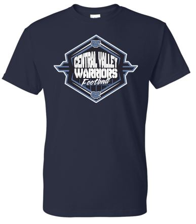 CV WARRIORS FOOTBALL MOISTURE WICKING TSHIRT